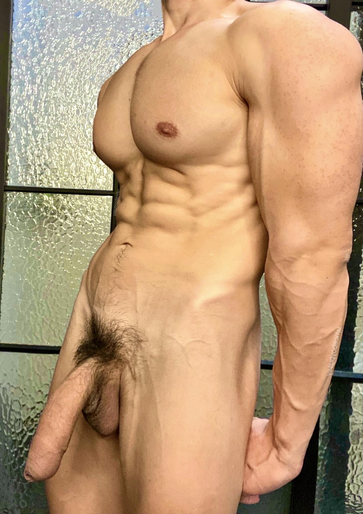 Big muscles and cock