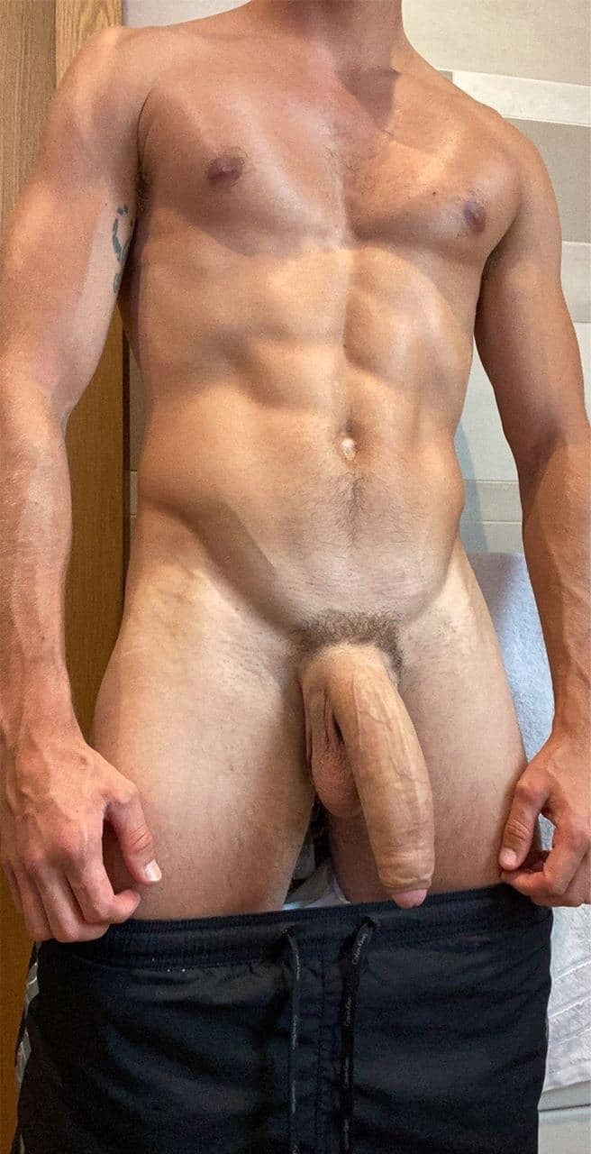 Guy showing his huge cock