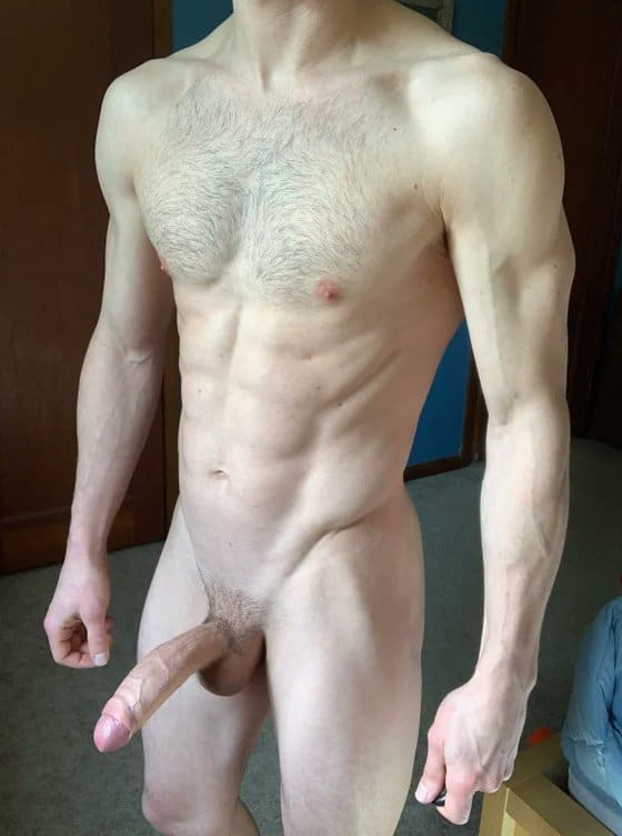 Hairy chest and big cock