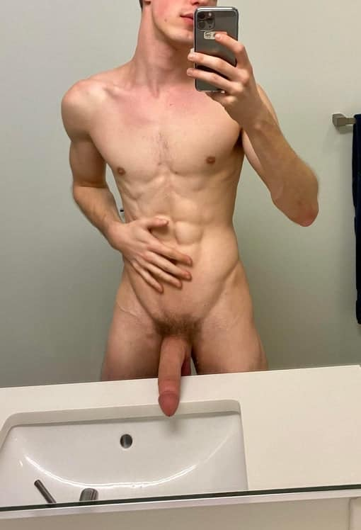 Horny boy with a big cock
