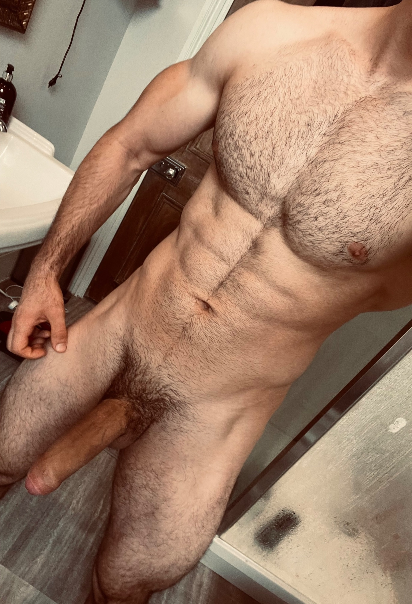 Hunk with a hairy body