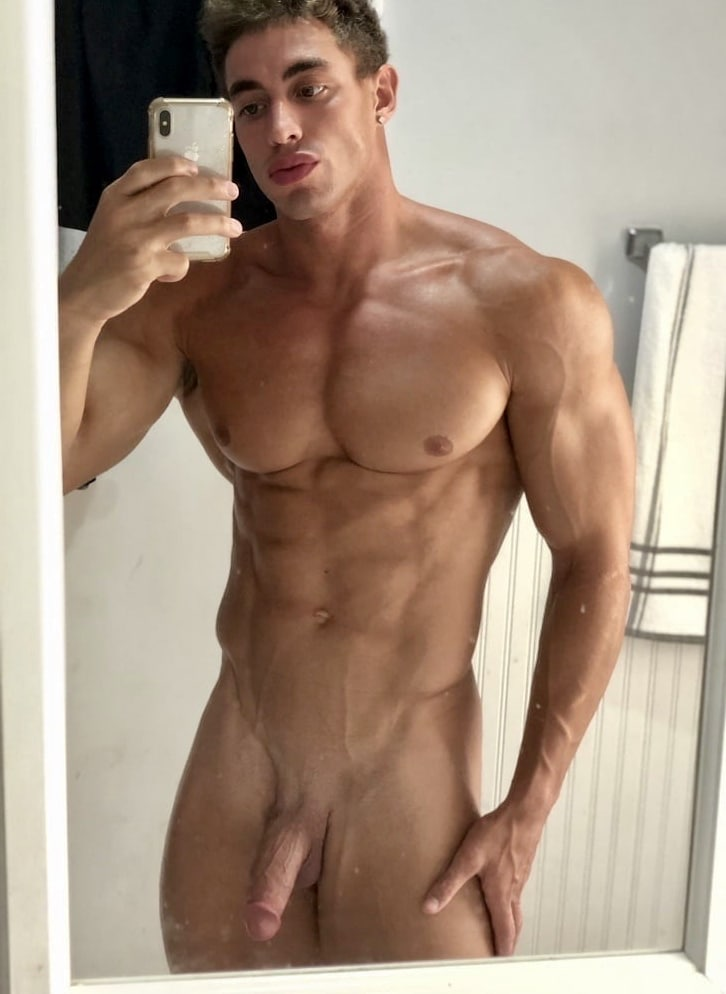 Hunk with a shaved cut cock