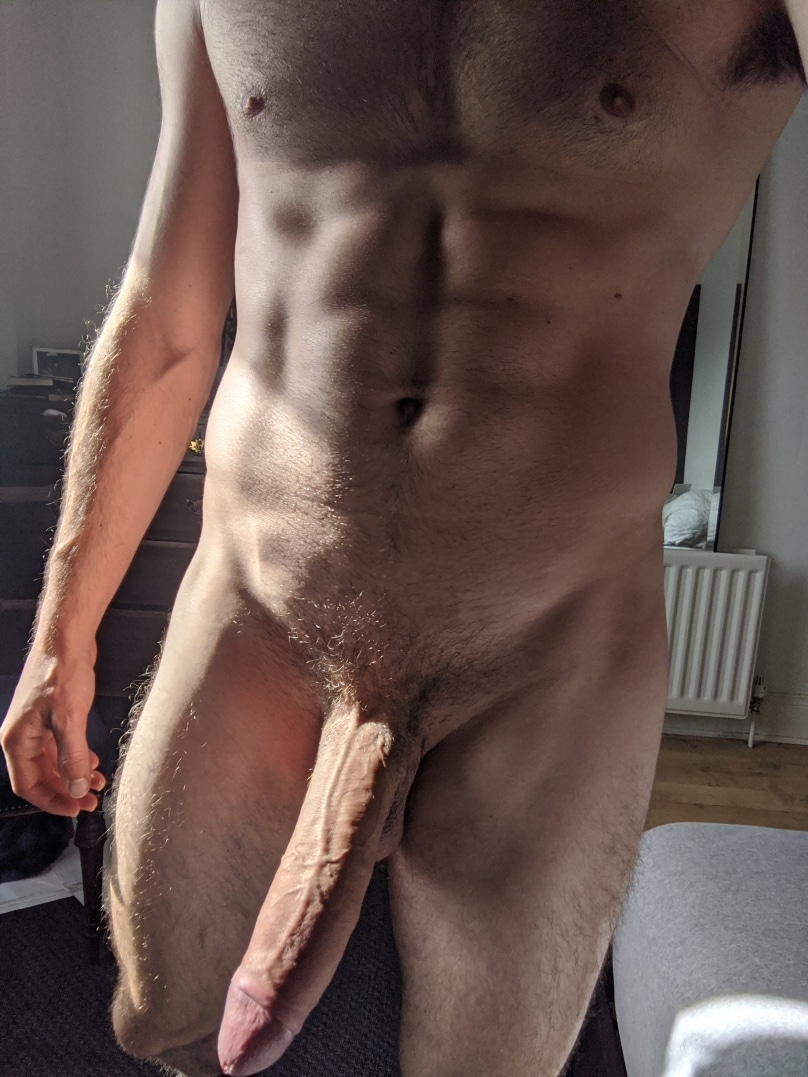 Nude hunk with a monstercock