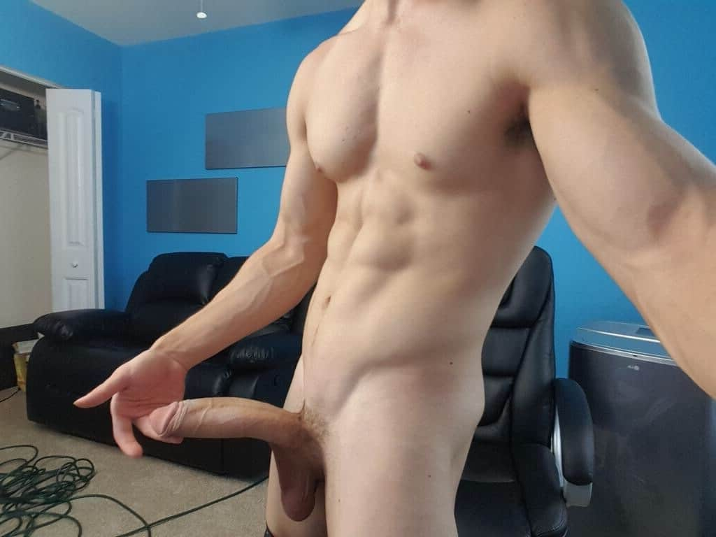 Nude stud with a big penis