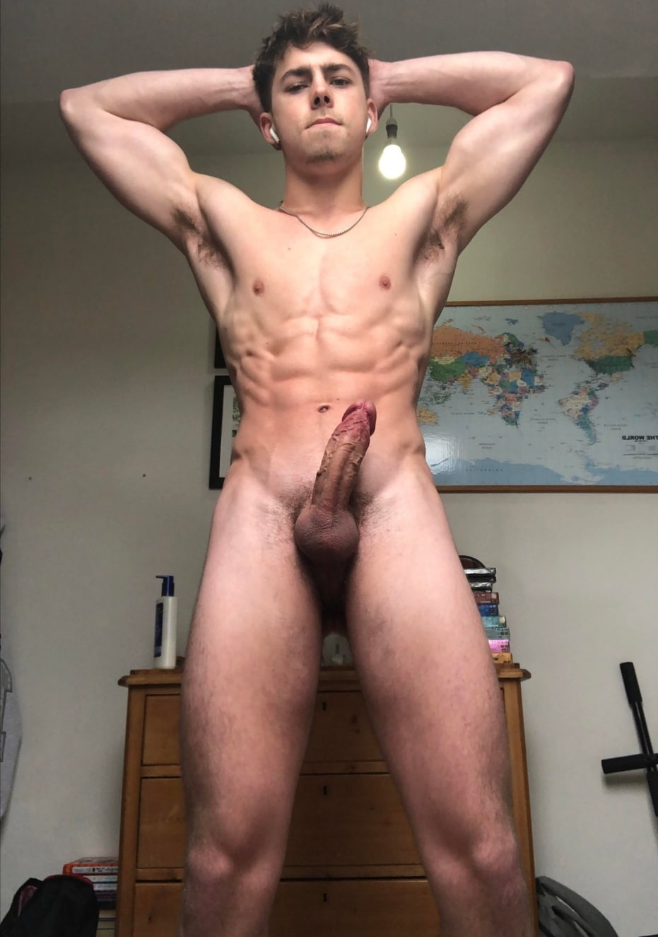 Sexy stud with a veiny cock