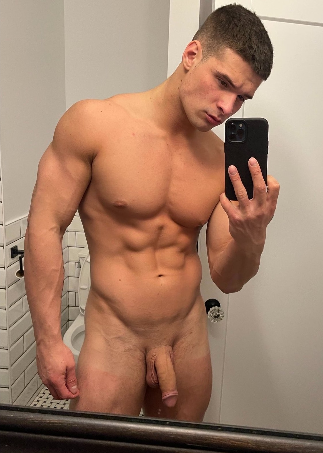 Smooth shaved big dick